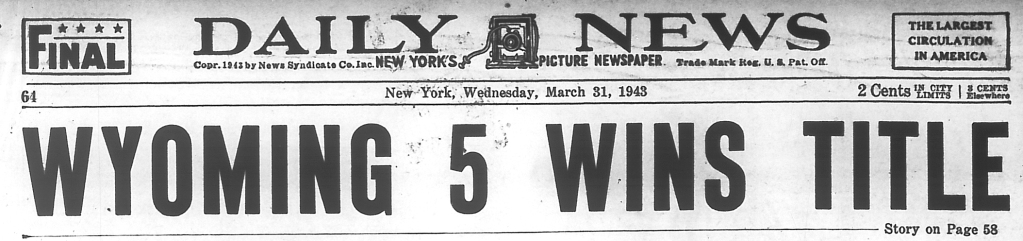 New York Daily News: March 31, 1943