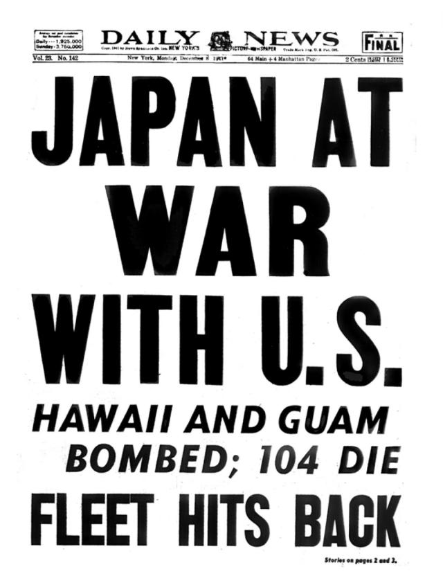 New York Daily News: Dec. 8, 1941